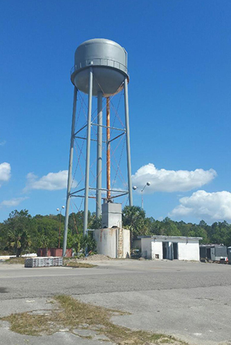 Almost completed Green Cove Springs Water Tower